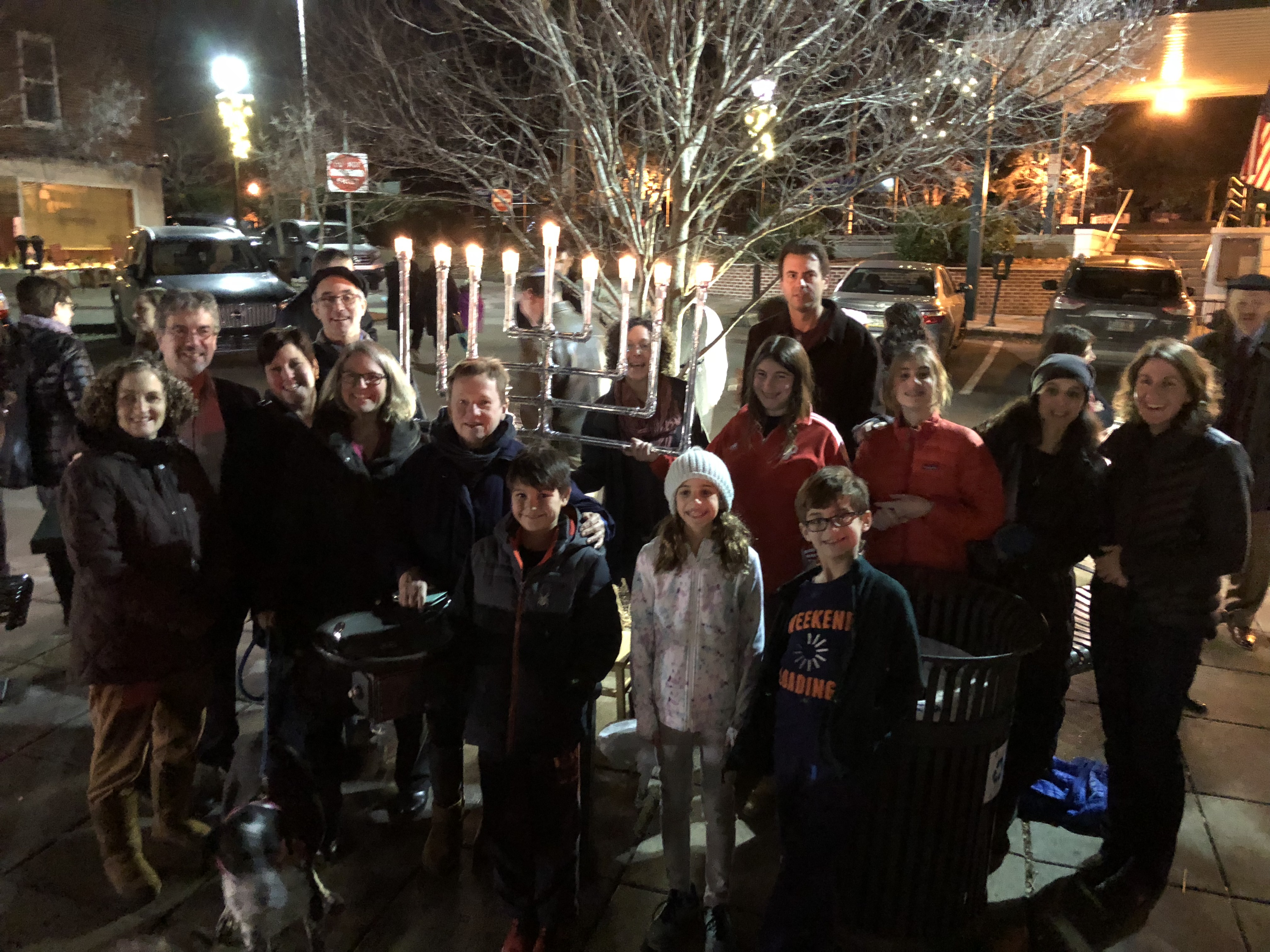 Hannukah Candle Lighting at Narberth Train Station with